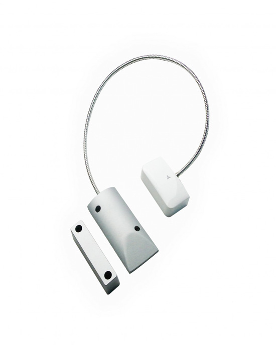 Wireless magnetic contact for shutter doors