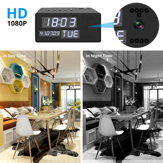 Hidden in clock FHD Smart WiFi  camera