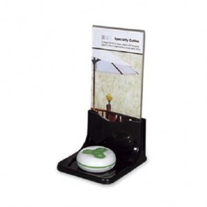 Advertisement stand for call button
