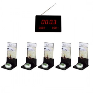 Wireless call system for restaurants with five call buttons+advertisement stands